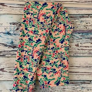 NEW Lularoe Tween Leggings Cream Multicolor 8-16
